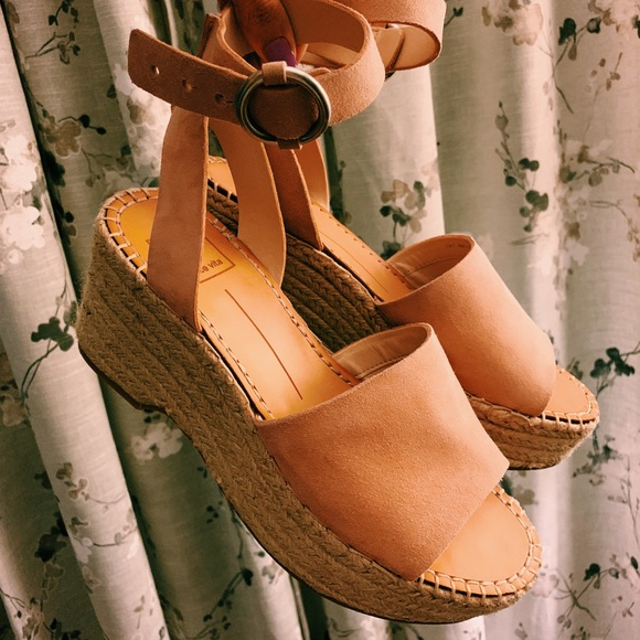 21e81b3adc Dolce Vita Shoes | Leslie Wedge In Rose Suede | Poshmark